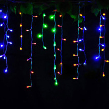Connector 5M x 0.4M 0.5M 0.6M led curtain icicle string lights fairy Christmas lamps Icicle Lights Xmas Wedding Party - ProfessionalLED Store store
