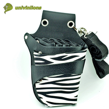 15*21 cm salon leather hairdressing tool professional barber bag scissors pockets multifunction hairstylist holster pouch holder(China)