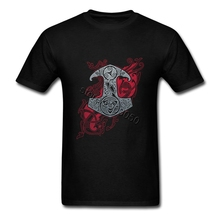 80s Offensive RAVEN MJOLNIR T shirt Homme UK Brand Short Sleeves Young Boy Tshirt Dropship Wholesalers