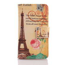 AIYINGE Cartoon Patterned PU Leather Cell Phone Flip Case With Card Pocket Cover For Alcatel Ideal 4060A Dawn 5027B 4.5''