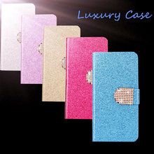 2016 Luxury Glitter Case For Apple Ipod Touch 4 4G Cover Original Flip Book Minion Diamond Phone Bag With Inner Back Shell(China)
