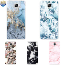 For OnePlus 3 / 3T Phone Case For One Plus 2 Shell For One Plus 3 Coque 5.5 Inch Cover Soft TPU Marble Lines Design Painted