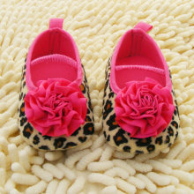 Fashion Newborn baby shoes Red Flower Princess soft baby shoes for baby shoe 3 size