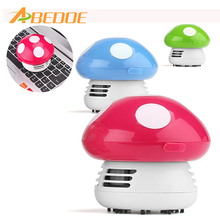 ABEDOE Mini Desktop Mushroom Vacuum Cleaner Keyboard Vacuum Brush Battery Operated for PC Laptop Clean Brushes(China)