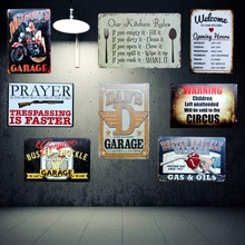 Retro Tin Signs Metal Plate Wall Picture for Garage Home Cafe Art Decor Cuadros Wall sticker 30X20CM A-9003(China)