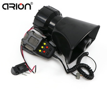 Real 12V Motorcycle Car Auto Vehicle Van Truck Loud Horn/siren for Police Firemen Ambulance Warning Alarm Loudspeaker 7 sonidos(China)