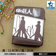 Japanese Anime Attack On Titan Chocolate PU Short Wallet/Purse With Zipper