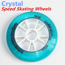 [ Crystal Racing ] 8 Pcs/Lot Inline Speed Race Skates Wheel, Transparent 110mm 100mm 90mm For Speeding Racing Skating STS(China)
