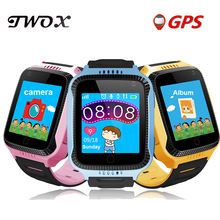 TWOX Q528 Y21 GPS Smart Watch With Flashlight Baby Watch touch Screen SOS Call Location Device Tracker for Kid Safe PK Q50 Q100(China)