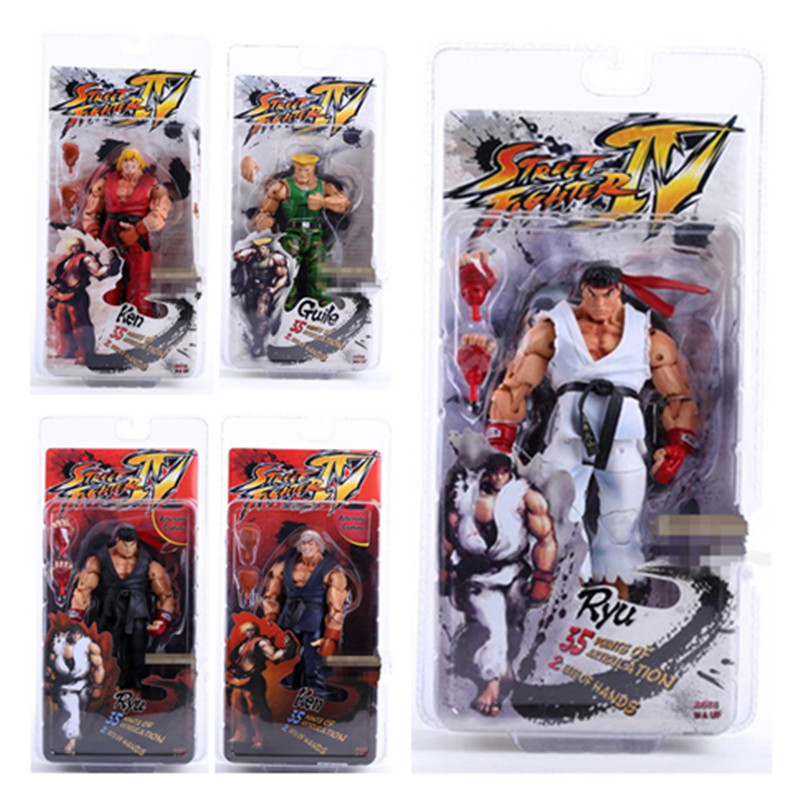 18cm Player Select Street Fighter IV Action Figure Toy Anime Brinquedos PVC Survival Model Toys Ken Ryu Guile<br><br>Aliexpress