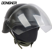 DONGKER Airsoft M88 Helmet With Clear Visor Military Tactical PASGT Helmets Hunting M88 Helmets Paintball Accessories