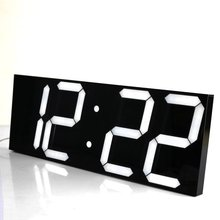 LED Digital Wall Clock Wake Up Light Large Wall Clock Electronic Stopwatch Timer Weather Station New Year Decoration Watch Mural(China)