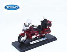 Welly 1:18 Honda GOLD WING MOTORCYCLE BIKE DIECAST MODEL TOY NEW IN BOX FREE SHIPPING