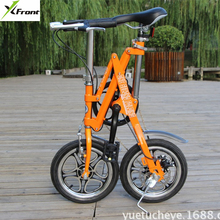 New X-Front brand 14 inch alloy SHIMAN0 7 speed fast folding bike fiets road bicicleta quality children mini bicycle(China)