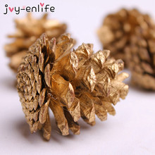JOY-ENLIFE 9pcs Christmas Tree Hanging Balls Pine Cones Pinecone Xmas New Year Holiday Party Decor Ornament Home Parties Supplie