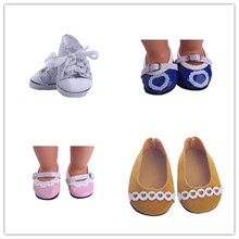 "4 color Doll shoes ,bue sport leisure doll shoes for 18"" inch american girl doll for baby gift n569"