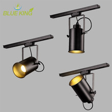 Loft Industrial LED Track Lights Clothing Shop Windows Showrooms Exhibition Spotlight COB Ceiling Collection Light E27