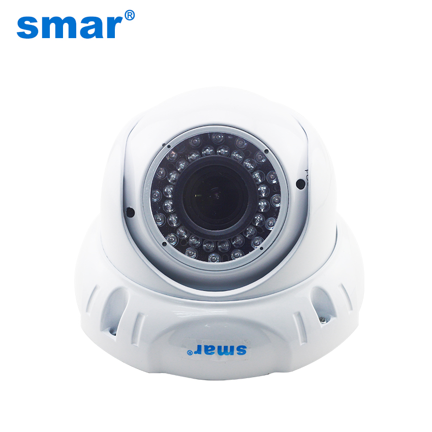 HD 720P 960P 1080P Vandal-proof Dome POE IP Camera Built-in 2.8-12mm 2MP Manual Zoom Lens Onvif 48V POE Network Camera<br>