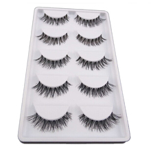 5Pair/Lot Crisscross False Eyelashes Fake Lashes Voluminous Natural False Eyelash Extension Cilios Posticos Make Up Wimpers(China)