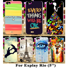 Cartoon Cover Cases For Explay Rio 5 inch Cover For Explay Rio Play Phone Case Accessories Back Cover Housing Hood Skin Shell