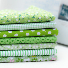 New arrival light green cloth group 50X50CM pre cut cotton fabric DIY hand quilting fabrics