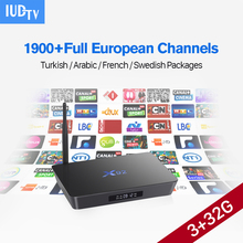 4K hd Android stb Italian UK French IPTV Set top Box 1700 Sport Channel IPTV Europe IUDTV 1 year Arabic French Media Player