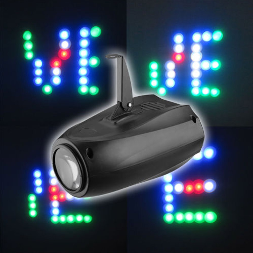 Portable Music Auto/Sound Active 64 LEDs RGBW Lights Laser Stage Effect Lighting Club Disco DJ Party Bar KTV Wedding Lights 19