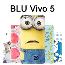 BLU Vivo 5 case cover TPU 5.5 inch New soft case for BLU Vivo 5 mobile phone case Best cartoon Vivo 5 BLU Vivo5 case cover(China)