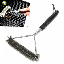 Clean Tool Barbecue Grill BBQ Brush Stainless Steel Wire Bristles Cleaning Brushes With Handle Durable Cooking BBQ Tool Hot Sale