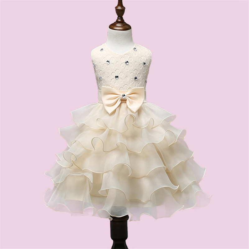 Summer Baby Girls Clothing Princess Dresses Sequins Ball Gown Dress Evening Party Flower Girl Clothes Lace Kid Girl Prom Wear<br>