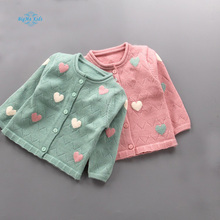BigMa girls sweater baby cardigan autumn of 2017 boys and girls long sleeved top wear wholesale