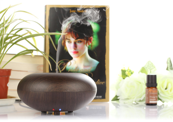 LAGUTE GX Series 140ML Aromatherapy Essential Oil Diffuser Ionizer Air Humidifier Wood Grain Style Fine Smooth Mist Version<br>