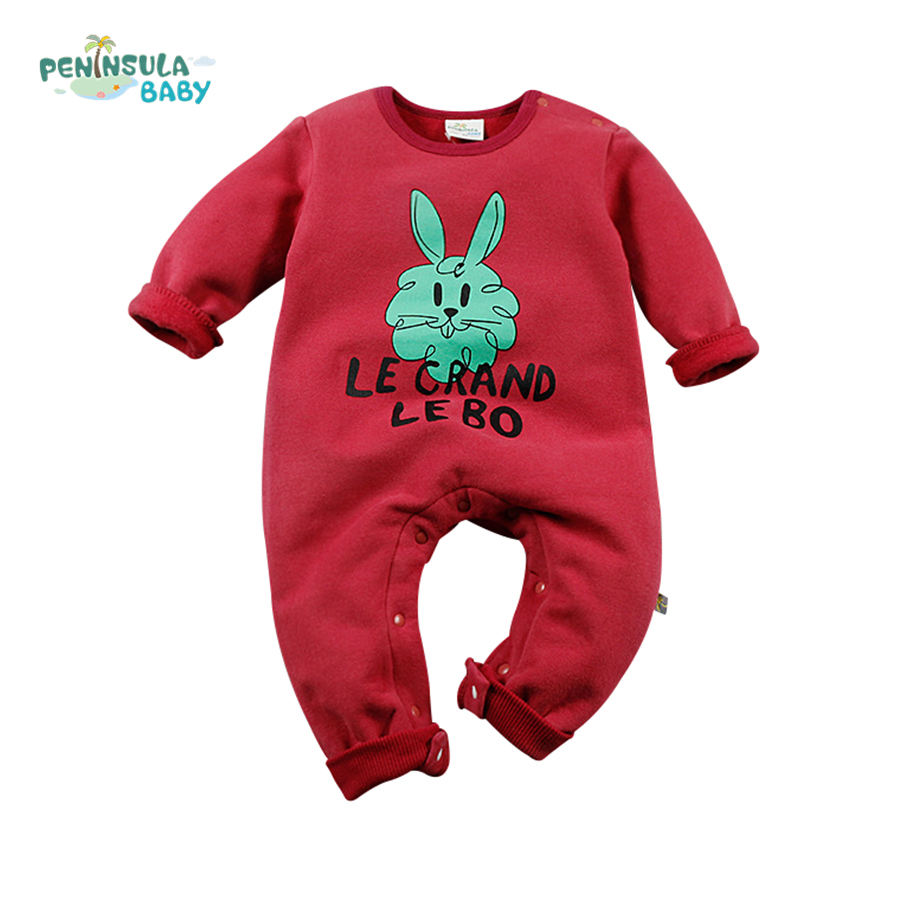 Cartoon Rabbit Baby Rompers Costumes Newborn Baby Girl Boy Clothes Winter Overalls Roupa Animal Next Clothing Warm Clothes<br><br>Aliexpress
