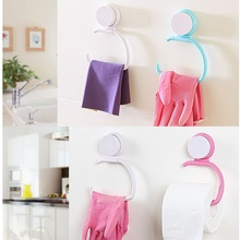 1Pcs Wall Hanger With Suction Cup Towel Shelf Toilet Paper Holder Gloves Hanging Rack Hook For Kitchen Bathroom Bedroom