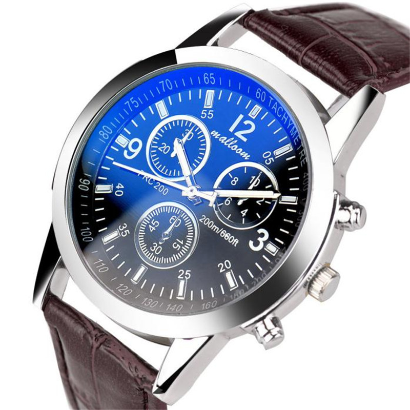 Fashion Faux Leather Mens Analog Quarts Watch Men Wrist Watches 2016 Mens Watches Top Brand Luxury Casual Watch Man wholesale<br><br>Aliexpress