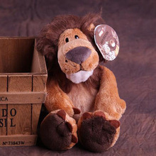 stuffed animals about 25cm jungle lion plush toy, one lot / 4 pieces toys b9998