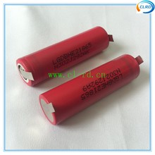 2pcs free shipping 18650 power tool battery LGHE2 2500mah 20A for vacuum cleaner and cordless drill use