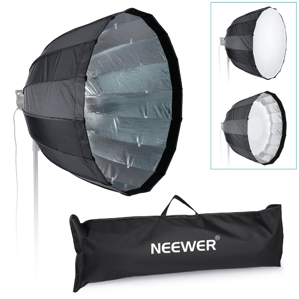 Neewer 26/66CM Photography Quick-folding Portable Speedlite Flash Softbox Diffuser Bowens Mount for Yongnuo/Godox Speedlites<br><br>Aliexpress