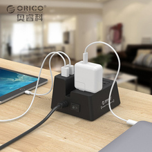 ORICO ODC-2A5U 40W 5 USB Charging Ports Power Strip and 2 AC Outlets Surge Protector With 1.5M Power Cord