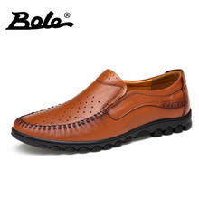 BOEL Summer Punching Breathable Men Loafers Designer Superstar Slip on Business Men Casual Shoes Fashion Walking Shoes Men Flats