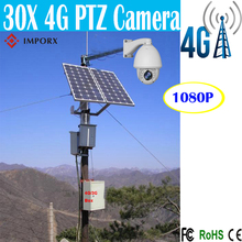4G/3G 960P 2.0MP Bullet IP Camera Waterproof IR 150M 30X Zoom Outdoor solar camera with 200W solar panels