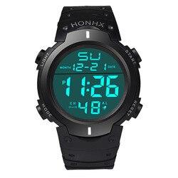 Роскошные мужские спортивные часы для дайвинга цифровые светодиодные милитари мужские модные повседневные электронные наручные часы reloj ...