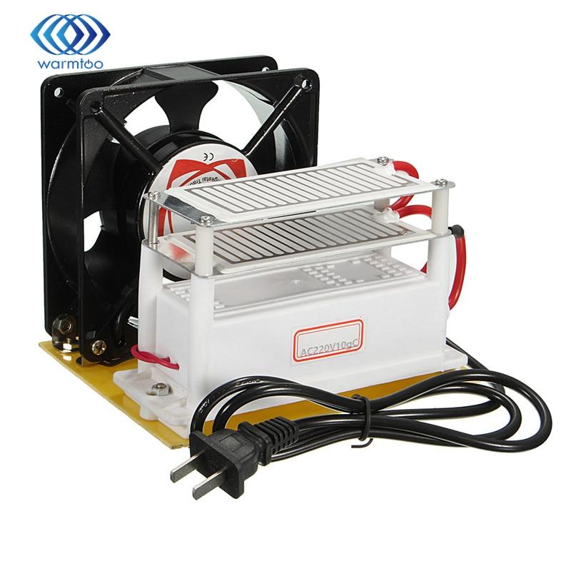 Metal+Plastic Ozone Generator 220v 10g/H with Double Sheet Ceramic Plate Sterilizer Fan Air Purifier Machine<br><br>Aliexpress