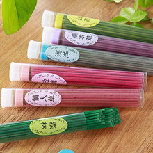 Natural Plant Essential Oil Aromatherapy Incense Sticks Barrel About 60 Pieces Color Incense Sticks aroma 10 Flavor Can Be Chose