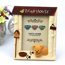 Creative Kawaii Bear Photo Frame Cartoon Picture Frame for Kids Children Home Decoration Ornaments Baby Birthday Gift ZA3174(China)