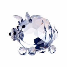 H&D Pig Glass Crystal Figurines Paperweight Crafts Art&Collection Souvenir Birthday Christmas Wedding Gifts Decoration 40mm(China)