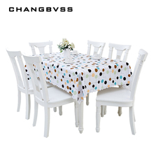 2017 Colorful Dot Print Table Cover Party Home Decor Waterproof Table Cloth PVC 68*68cm-137*220cm Plastic Table Wedding Clothes(China)
