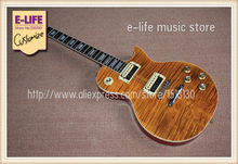 100% Real Pictures LP Slash Appetite Signature Electric Guitar Brown Tiger Flame Top In Stock