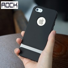 Phone cases for iphone 5s Rock Royce Dual Layered Anti-knock Hard PC+Sofe Protection Case for iphone 5 5s mobile phone bag/case