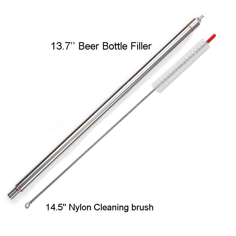 bottle filler with brush